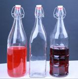 frasco de vidro geado 350ml do uísque do frasco de vinho branco