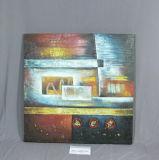 Las pinturas autoguiadas hacia el blanco de la lona del equipamiento casero del modelo del barco de noche