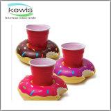 Suporte de copo inflável do brinquedo do presente relativo à promoção para a piscina