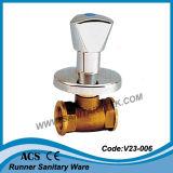 Válvula de parada embutida de zinco (V23-210)