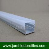 Profilo di alluminio del LED con il diffusore latteo, protezioni di estremità di plastica, montanti le clip