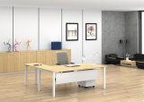 Ht02-2の白いカスタマイズされた金属の鋼鉄オフィスの管理の机フレーム