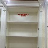 Librería pintura blanca residencial con mesa de estudio (GSP9-024)