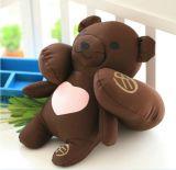 선물이 사랑스러운 견면 벨벳 장난감 곰 아기 장난감에 의하여 농담을 한다