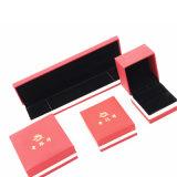 Rectángulo de joyería de cuero vendedor caliente del terciopelo de la PU (J17-E1)