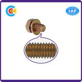 건물을%s DIN/ANSI/BS/JIS Carbon-Steel 또는 Stainless-Steel 4.8/8.8/10.9 직류 전기를 통한 교차하는 각 플랜지 나사