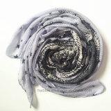 O melhor lenço impresso serpente de venda da forma do poliéster da tela da verificação (HM090)