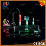 De In het groot LEIDENE van de Fabriek van China Lichte Waterpijp van het Glas voor de Rokende Waterpijp Narguile Kaloud van Chicha van de Staaf Shisha