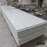 Superficie solida acrilica bianca di Corian del ghiacciaio per il comitato di parete della stanza da bagno