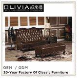 Insieme domestico di cuoio di lusso della disposizione dei posti a sedere del sofà del cinematografo di Foshan Olivia