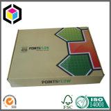 Rectángulo de envío brillante plegable del papel acanalado de la impresión de color