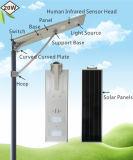 20W는 옥외 1개의 운동 측정기 태양 거리 LED 빛에서 모두를 방수 처리한다