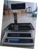 Escala computacional de la plataforma para pesar del precio de Acs con RS232