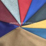 Одиночная сторона и почищенная щеткой цветом ткань шерстей