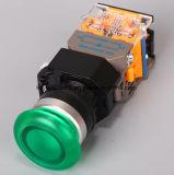 キー溝の照らきのこのタイプ押しボタンスイッチ