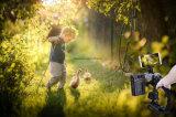 Schuh-Montierungs-Kamera-Griff-Griff-videovorgangs-stabilisierender Griff-Griff der Kamerarecorder-Leitwerk-Dreiergruppen-3 für DSLR Kamera-Canon Nikon Sony iPhone 7 PlusEsg10211