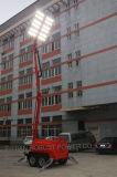Башня освещения СИД передвижная с генератором Kubota