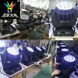 DJ装置の蜂の目19X15W RGBW LEDのズームレンズ移動ヘッドDMX照明