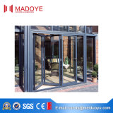 Puerta material de cristal de aluminio plegable del doblez del BI del estilo abierto