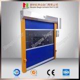 Моторизованная высокоскоростная штарка завальцовки с дверью ткани PVC