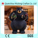 Supporti di bottiglia creativi del vino dell'orso nero di figura della resina della cremagliera animale del vino
