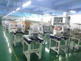 Máquina industrial lisa computarizada 6 cabeças do bordado da máquina do bordado do tampão com 10 polegadas de tela de toque