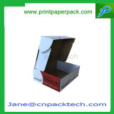 Cadre pliable de conditionnement des aliments de gâteau de gâteau de paquet plat d'E-Cannelure de cadeau fait sur commande de papier