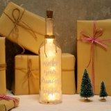 La botella ideal LED de la luz de las estrellas enciende para arriba a amigos de la familia del mensaje de la decoración