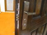 Segurança de porta de aço porta exterior de porta a porta de metal de porta de ferro para o Mercado Externo