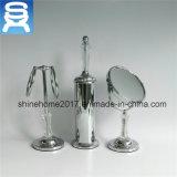 Conjuntos calientes de los accesorios del cuarto de baño de la porcelana del laminado de cromo, conjunto de cerámica del cuarto de baño