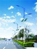 Libre de contaminación calle la luz solar en energía solar verde