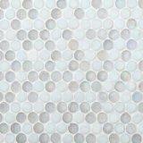 Mosaico de cristal redondo blanco para adornar el suelo y la pared