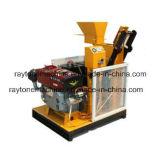 Qts1-25 Semi-automatique machine à fabriquer des briques en argile de verrouillage moteur diesel