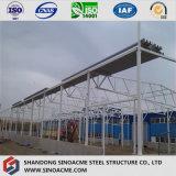 Entrepôt préfabriqué de construction d'usine d'industrie de structure métallique