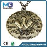 Preiswerter Preis kundenspezifische Laufring-Antike-Messingmetallmedaille