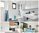 Robinet d'eau de salle de bain de luxe en noir noir et Chrome Two Tones