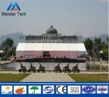 Grande barraca ao ar livre do evento com para casamento romântico