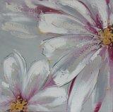 Pintura al óleo hermosa de la lona de la flor con la alta calidad para la decoración casera