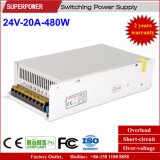 24V 20A 480W Switching Power Supply Reserved voor Printer
