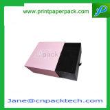Tipo de empaquetado pelucas del cajón de la alta calidad de la ropa de encargo de la camiseta y rectángulo de regalo del papel de embalaje del producto de pelo