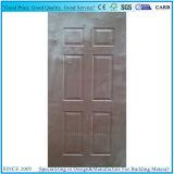 水平および縦のOkoumeのベニヤによって形成されるドアの皮の合板