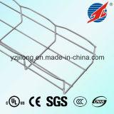 Altura lateral 30 ~ 200 Bandeja de cable de malla de acero electro-galvanizado