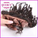 La maggior parte della chiusura svizzera brasiliana del merletto dei capelli umani dei prodotti popolari, 3.5*4-Inch, stile riccio