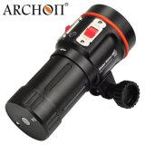 Aleación de aluminio de la lámpara recargable de vídeo bajo el agua con la batería recargable 18650
