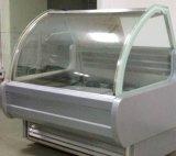 Congelatore della visualizzazione del gelato con il piatto trasparente