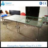 Aluminiumhochzeits-Stufe-Glasstufe-Brücke/bewegliche Glas-Stufe des Acryl-Stage/Mobile