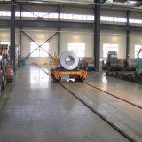 De Vlakke Kar van de Spoorweg van de Rol van het Staal van het Gebruik van de industrie voor Lopende band op Sporen