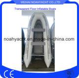 Supp transparent neuf d'Inflable de bateau de bateau de pêche de kayak de forme physique de modèle pas