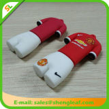 Promocional Cute Papai Noel Shape Rubber USB Flash Drive (SLF-RU005)