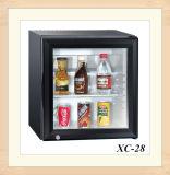 Bajo consumo eléctrico de la Encimera Bebidas expositor frigorífico de vidrio